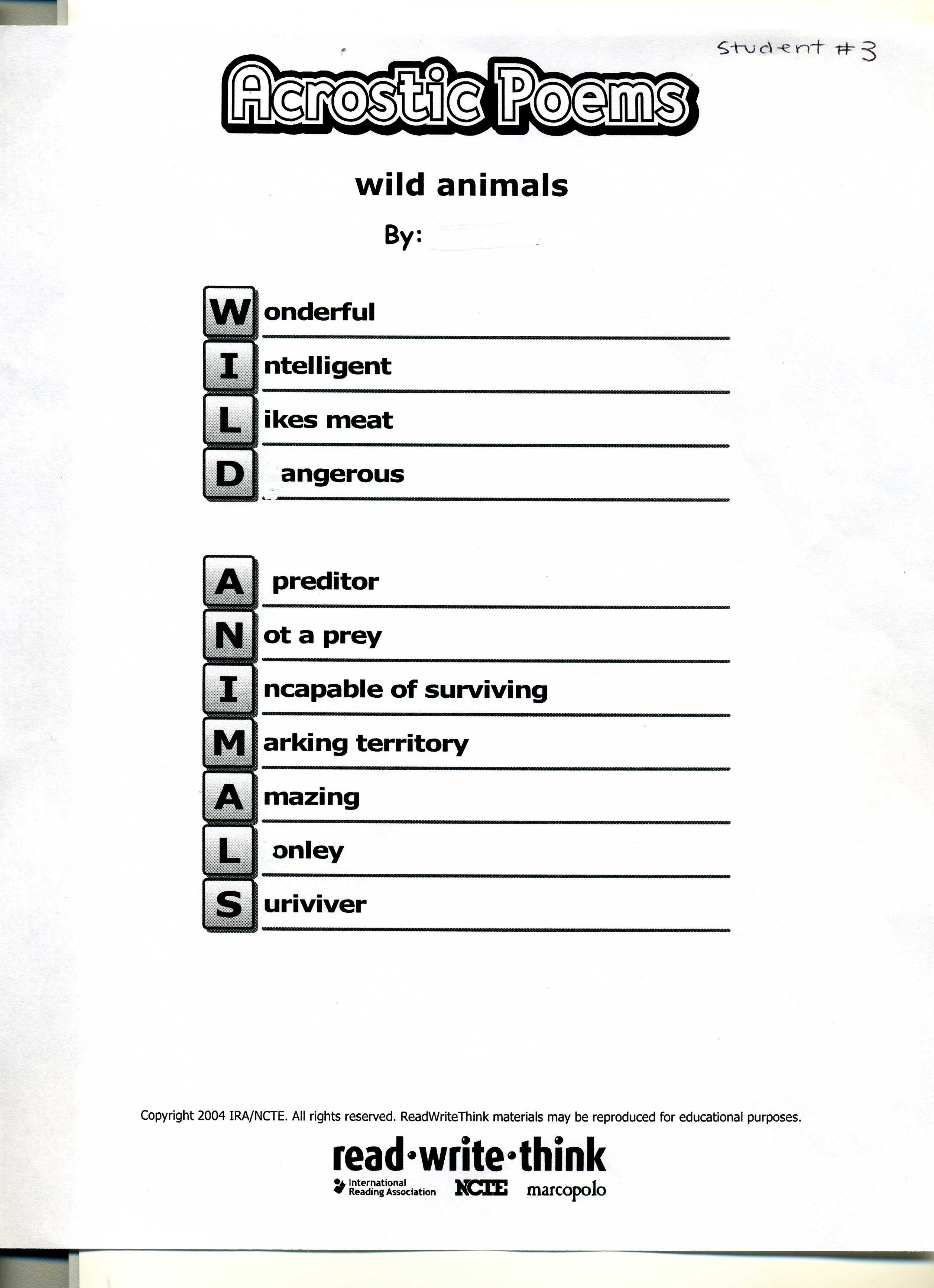 read write think acrostic 4 the brainstorming words that were typed will appear to the right of the screen to help the student (or teacher) will them click their cursor near the letter and type the word.